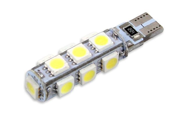 Interlook LED auto žárovka LED T10 W5W 13 SMD 5050